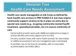 decision tree health care needs assessment