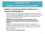 decision tree health care needs assessment2