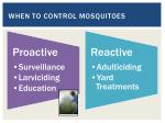 when to control mosquitoes