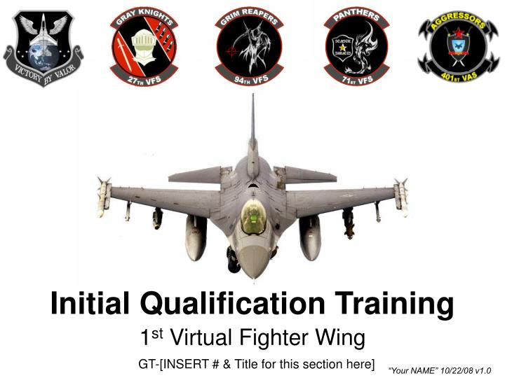 initial qualification training n.