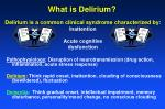 what is delirium