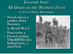 excerpt from all quiet on the western front by erich maria remarque