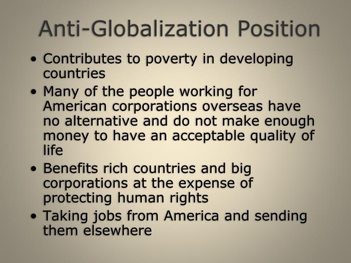 Anti-Globalization Position