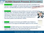 njsba search process 6 c s cont