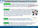 njsba search process 6 c s cont