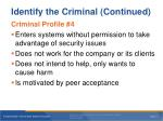 identify the criminal continued2