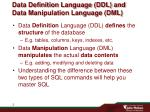 data definition language ddl and data manipulation language dml