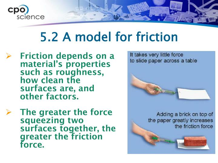 5.2 A model for friction