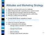attitudes and marketing strategy