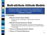 multi attribute attitude models