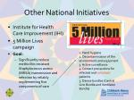other national initiatives1
