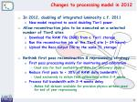changes to processing model in 2012