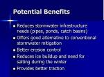 potential benefits1