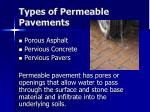 types of permeable pavements