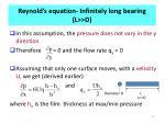 reynold s equation infinitely long bearing l d