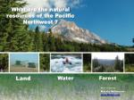 what are the natural resources of the p acific northwest