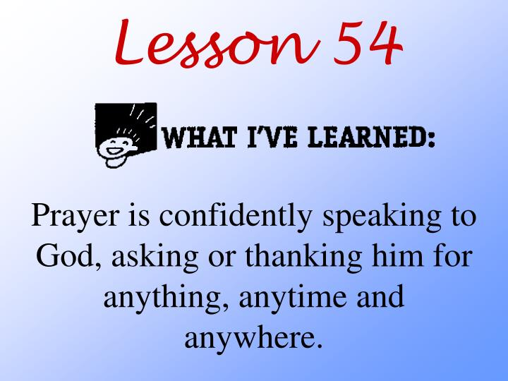 Lesson 54