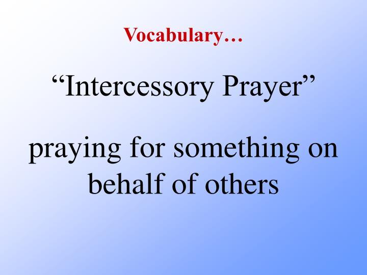Vocabulary…