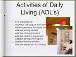 activities of daily living adl s