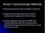 modern spectroscopic methods