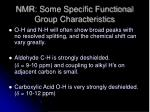 nmr some specific functional group characteristics