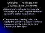 shielding the reason for chemical shift differences