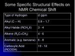 some specific structural effects on nmr chemical shift