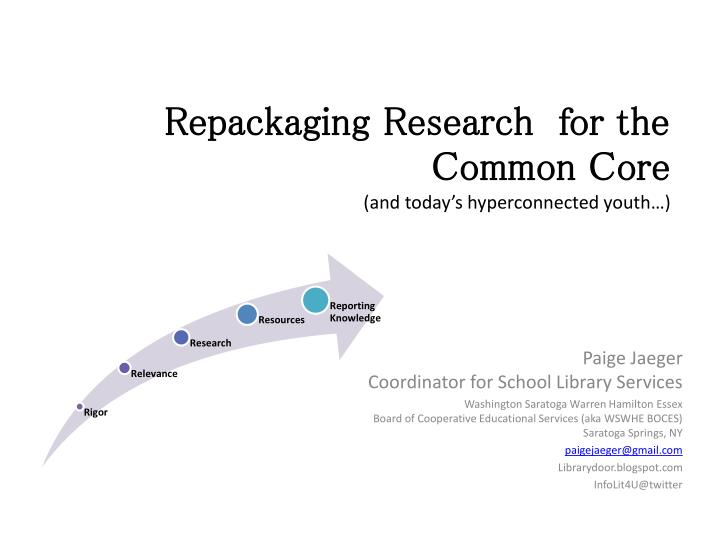 repackaging research for the common core and today s hyperconnected youth n.