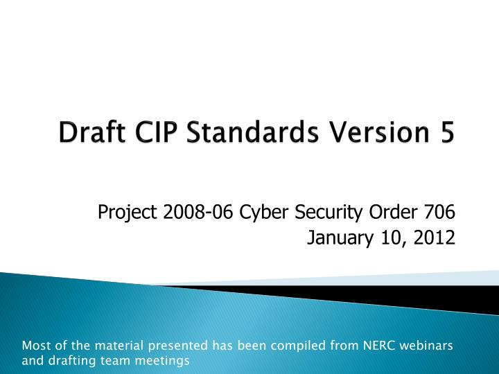 draft cip standards version 5 n.