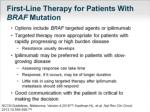 first line therapy for patients with braf mutation