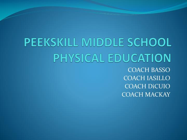 peekskill middle school physical education n.