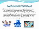 swimming program