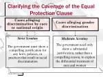 clarifying the coverage of the equal protection clause1