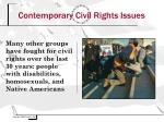 contemporary civil rights issues