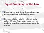 equal protection of the law1