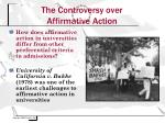 the controversy over affirmative action