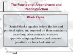 the fourteenth amendment and reconstruction