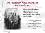 the fourteenth amendment and reconstruction1