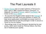 the poet laureate ii