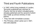 third and fourth publications
