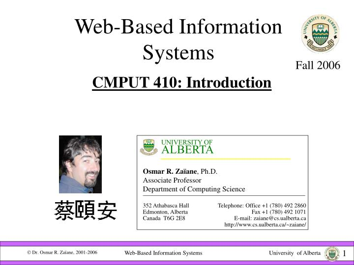 web based information systems n.
