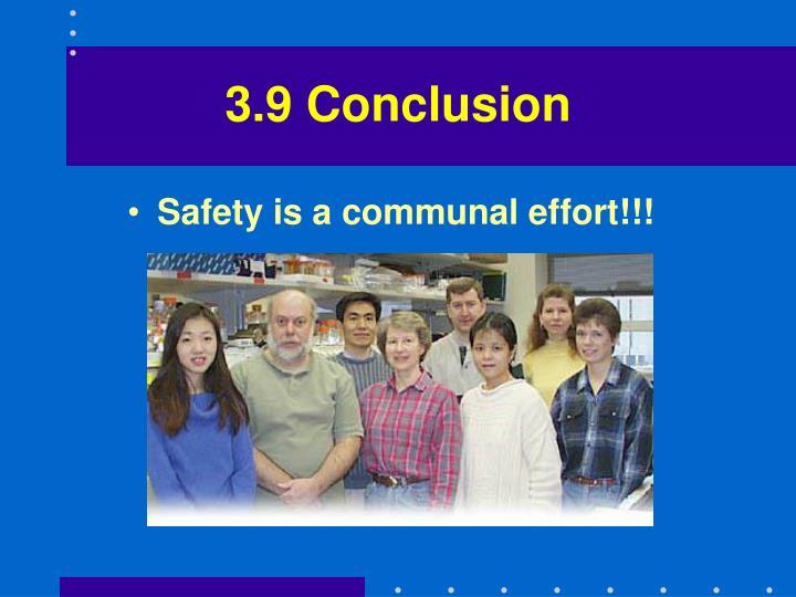3.9 Conclusion