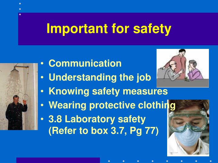 Important for safety