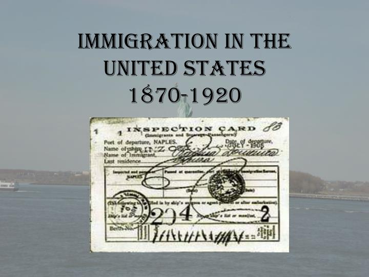 immigration in the united states 1870 1920 n.