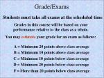grade exams