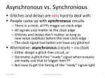 asynchronous vs synchronious