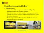 event development and delivery1