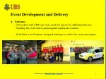 event development and delivery2
