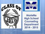 marietta high school counseling department 2014 2015