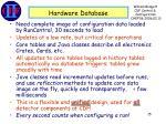 hardware database